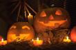 Halloween pumpkin with lights