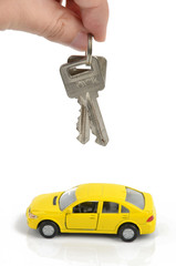Toy car and lock