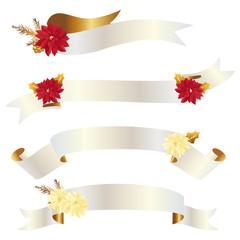 poinsettia with ribbon