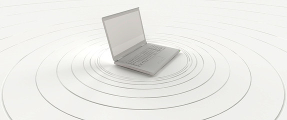 White laptop sending used as a hot spot