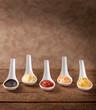 Salse: aceto, maionese, ketchup, salsa cocktail, e senape