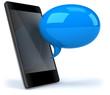 Smartphone et bulle