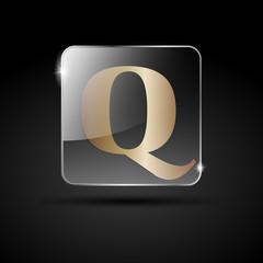 Logo golden letter Q # Vector