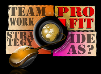 Ideas strategy teamwork profit