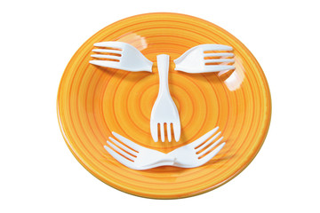 Plastic Forks on Plate