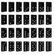 domino black set vector illustration