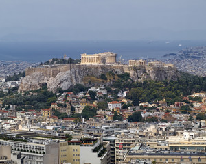 north view of Parthenon Acropolis Athens Greece