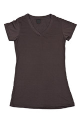 Womens blank brown t-shirt