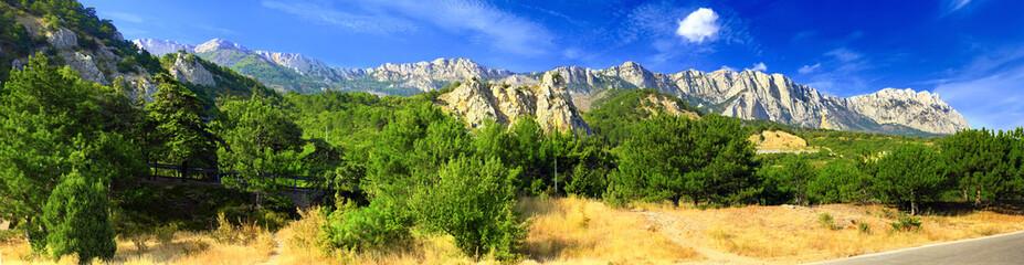South part of Crimea peninsula, mountains  Ai-Petri