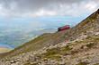 Steam Train heading to the Snowdon summit, Snowdonia, Wales