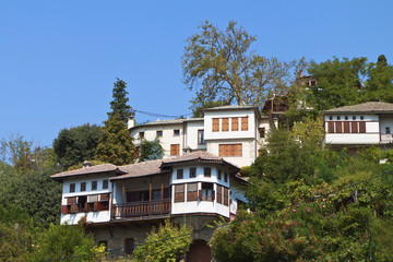 Greek traditional houses at 'Portaria' village of Pelion
