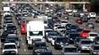 Traffic jam on Los Angeles Freeway