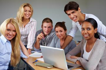 Portrait einer Studentengruppe