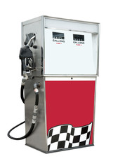 Gas pump with empty space for type, isolated