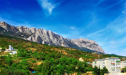 South part of Crimea peninsula, mountains  Ai-Petri