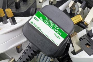 blank pat test sticker on plug
