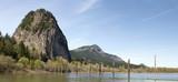 Beacon Rock along Columbia River Gorge