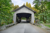 Covered Bridge over Cedar Creek in Washington