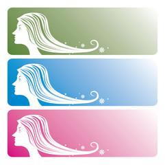 女性 髪 付箋