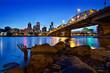Portland Oregon Skyline at Blue Hour