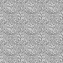 Seamless pattern vector illustration with floral ornaments