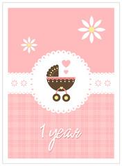 Baby card - girl