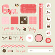 scrapbook baby set - girl