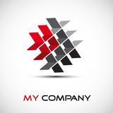 Logo enterprise teamwork # Vector poster