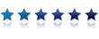 6 Sterne Bewertung - blau