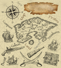 Pirate map illustration