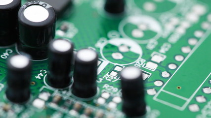 Printed circuit board with radio components rotates