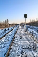 railway semaphore. hdr