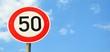 Verkehrszeichen ''50''