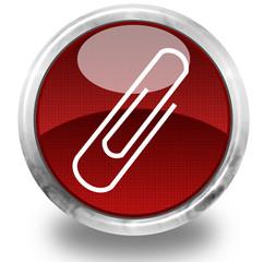 Paper clip glossy icon