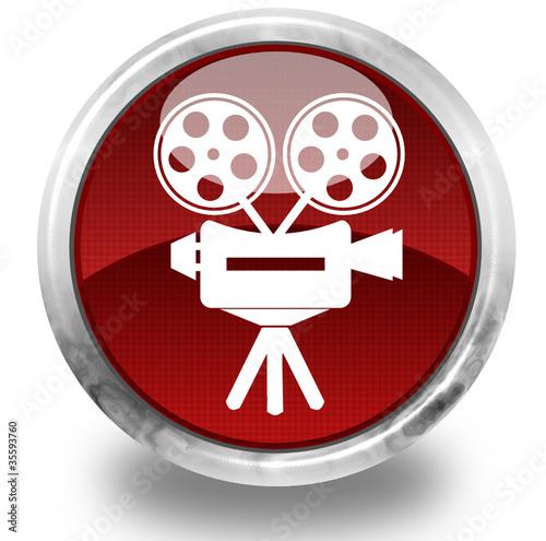 Cinema glossy icon