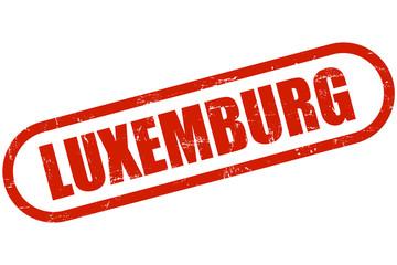 Grunge Stempel rot LUXEMBURG