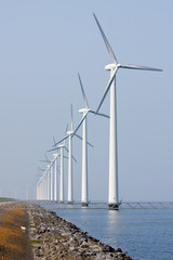 Offshore wind turbines in the Dutch sea