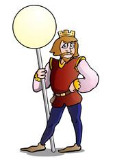 king sign cartoon