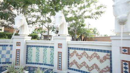 Trojan horse fountain