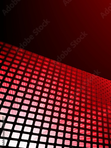 Red waveform vector background. EPS 8