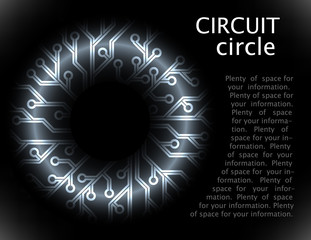 vector circuit circle background. eps10