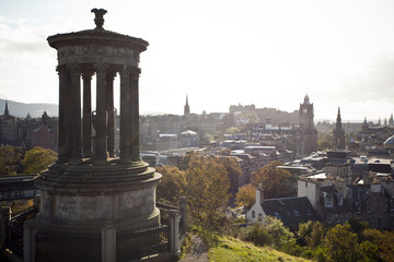 Calton Hill in Edinburgh, Scotland