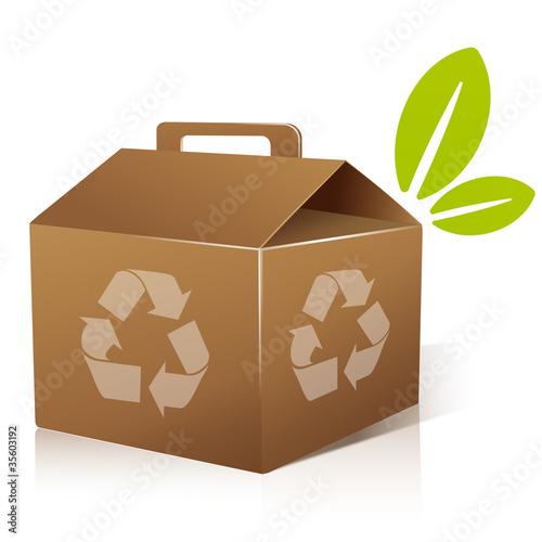 vecteur boite en carton recyclable de fichier vectoriel libre de droits 35603192 sur. Black Bedroom Furniture Sets. Home Design Ideas