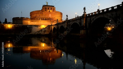 Castel Sant'Angelo all'alba, Roma
