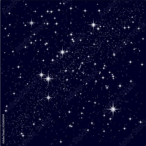 Fototapeta Vector illustration of a starry sky