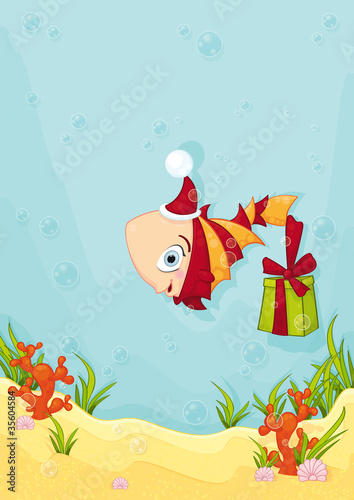 merry christmas - underwater