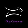 Logo Dog running # Vector