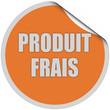 Sticker orange curl oben PRODUIT FRAIS