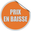 Sticker orange rund curl oben PRIX EN BAISSE