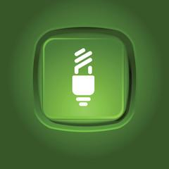eco light bulb icon